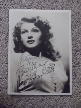 Rita Hayworth Hollywood Actress - Original Autograph